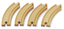 BRIO 33342 4x Large Curved Track Size E 6.5in for Wooden Train Set