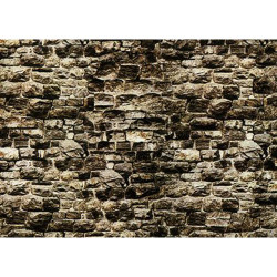 NOCH Granite Wall Card 32x15cm HO Gauge Scenics 57510