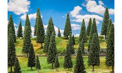 FALLER Assorted Fir Trees (50) HO Gauge Scenics 181539