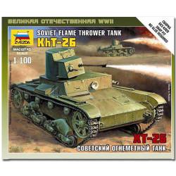 ZVEZDA 6165 T-26 Flamethrower Tank Military Model Kit 1:100