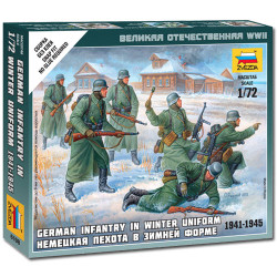 ZVEZDA 6198 German Infantry winter Uniform 1:72 Military Model Kit