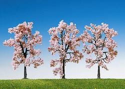 FALLER Cherry Trees 80mm (3) HO Gauge Scenics 181406