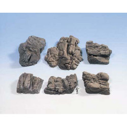 NOCH Sandstone Rocks Hard Foam (6) HO Gauge Scenics 58452