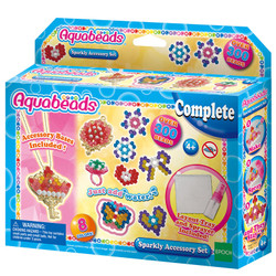 AQUABEADS Sparkly Accessory Set Over 300 Aqua Beads 31499