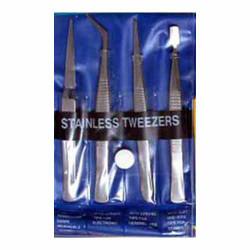 GAUGEMASTER Stainless Steel Tweezers (4) GM609