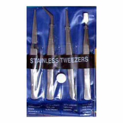 GAUGEMASTER Stainless Steel Tweezers (4) GM609