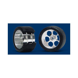 "NSR 3/32 Frt RTR 19 x 10mm Trued Rubber Tyres 17"" Wheels (2) NSR9004"