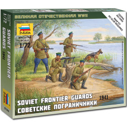 ZVEZDA 6144 Soviet Frontier Guards 1941 1:72 Figures Snap Fit Model Kit