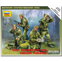 ZVEZDA 6137 Soviet Reconnaissance Team Snap Fit Model Kit 1:72
