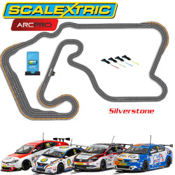 SCALEXTRIC Digital Bundle SL11 ARC PRO Silverstone 4 Car JadlamRacing Set