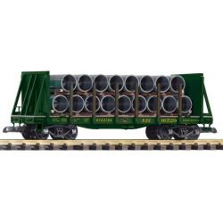 PIKO RDG Bulkhead Stake Wagon w/ Pipe Load 16729 G Gauge 38756