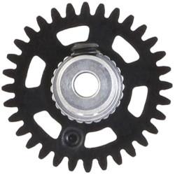 NSR 3/32 AW Soft Plastic Gear 32t Black w/Alu Hub 16mm NSR6632