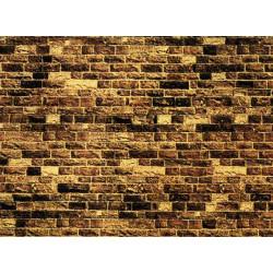 NOCH Yellow Sandstone Wall Card 64x15cm HO Gauge Scenics 57750