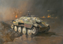 ITALERI WOT Jagdpanzer 38t Hetzer 15767 1:56 Tank Model Kit