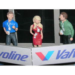 SLOT TRACK SCENICS Fig2 Corporate Guests Pack A 3 Vips - for Scalextric
