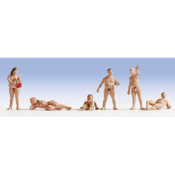 NOCH Nudists (6) Figure Set HO Gauge Scenics 15843