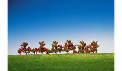 FALLER Bushes Red Flowers 40mm (6) HO Gauge Scenics 181476