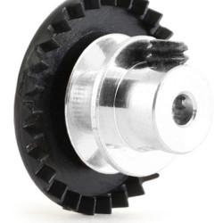 NSR 3/32 IL Soft Plastic Gear 27t Black w/almm hub 050'' screw NSR6327AL