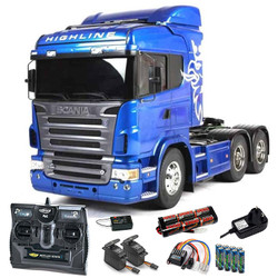 TAMIYA RC 56327 Scania R620 Blue Edition Ltd 1:14 Truck Kit + radio bundle