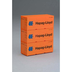 PIKO Classic 20' Container Set Hapag-Lloyd (3) HO Gauge 56202