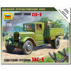 ZVEZDA 6124 Soviet Truck Zis-5 Snap Fit Model Kit 1:100