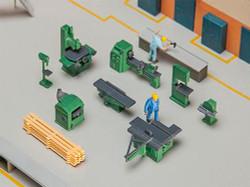 FALLER Workshop Fittings Accessory Model Kit III HO Gauge 180455