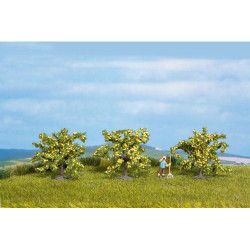 NOCH Lemon (3) Classic Trees 4cm HO Gauge Scenics 25115