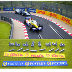 SLOT TRACK SCENICS AB4 P Advertising Boards - for Scalextric