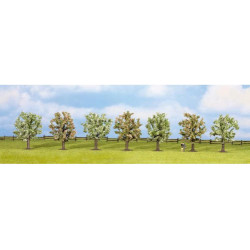 NOCH Fruit Tree in Blossom (7) Classic Economy Trees 8cm HO Gauge Scenics 25092