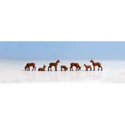 NOCH Roe Deer (7) Figure Set HO Gauge Scenics 15740