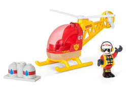 BRIO World 33797 Firefighting Helicopter for Wooden Train Set