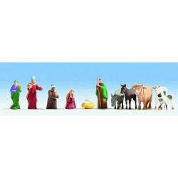 NOCH Christmas Manger (11) Figure Set HO Gauge Scenics 15922
