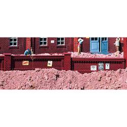 PIKO Brick Factory Walls Kit 105cm G Gauge 62288