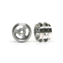 SLOT.IT Al 15.8x10x1.5mm Wheels M2Grub Dbl Shoulder Holed 1.2g(2) SIW15810215AH