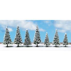 NOCH Snow Fir (7) Classic Economy Trees 8-12cm HO Gauge Scenics 25087