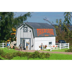 PIKO White Barn Kit G Gauge 62120