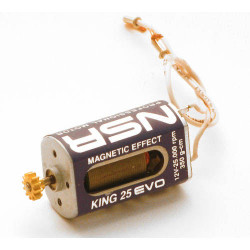 NSR King 25k EVO Motor 350g/cm @ 12v Inline 5.5mm Pinion NSR3026L
