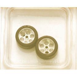 "NSR 3/32 Rear RTR 20 x 10mm Trued Rubber Tyres 17"" Wheels (2) NSR9010"