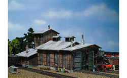 FALLER Engine Shed (2 Road) Model Kit II HO Gauge 120161