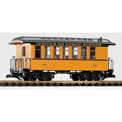 PIKO D&RGW Wood Coach 319 G Gauge 38610