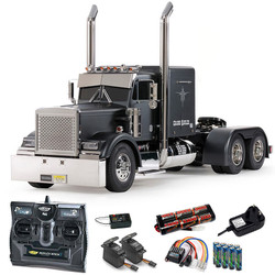 TAMIYA RC 56356 Grand Hauler Matt Black 1:16 Truck Assembly Kit + radio bundle
