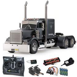 TAMIYA RC 56356 Grand Hauler Matt Black 1:16 Truck Assembly Kit + radio bundle