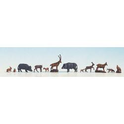 NOCH Forest Animals (12) Figure Set HO Gauge Scenics 15745