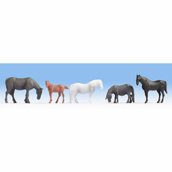NOCH Horses (5) Hobby Figure Set HO Gauge Scenics 18215