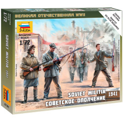 ZVEZDA 6181 Soviet Militia 1941 1:72 Snap Fit Model Kit