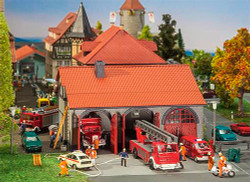 FALLER Fire Brigade Engine House Model Kit II HO Gauge 130162