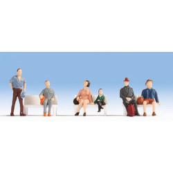 NOCH Seated Passengers (6) Hobby Figure Set HO Gauge Scenics 18116