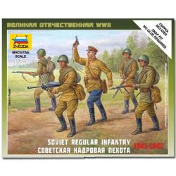 ZVEZDA 6179 Soviet Regular Infantry 1941-42 Model Kit 1:72