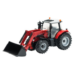 BRITAINS Massey Ferguson 6616 Tractor & Loader 1:32 Diecast Farm Vehicle 43082A1