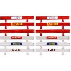 SCALEXTRIC  SL5  SL6  Barriers high level pack for - 6 Red & 6 White